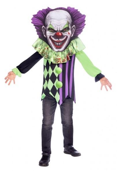 Horrorclown mit XXL Kopf Kinderkostüm