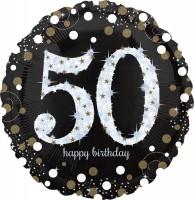 Golden 50th Birthday Folienballon 71cm