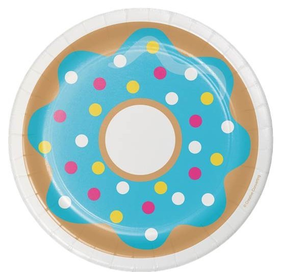 8 piatti di carta Donut Candy Shop 18 cm