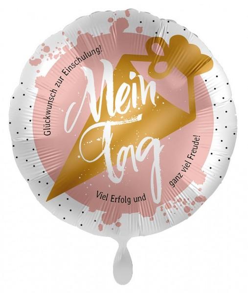 Rosa Einschulung Folienballon Mein Tag 43cm