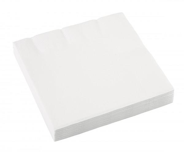 20 Servietten Mila weiß 33 x 33cm