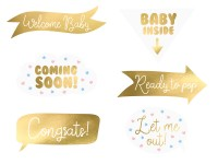 6 Baby Boy or Girl Foto Requisiten