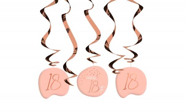 Décoration à suspendre 18ème anniversaire 5 pièces blush élégant or rose
