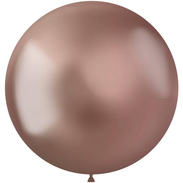5 Globo Shiny Star XL oro rosa 48cm