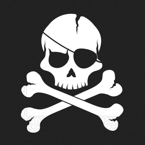 20 Black Pirates Servietten 33cm