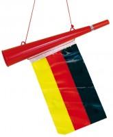 Deutschland Fan Tröte mit Flagge