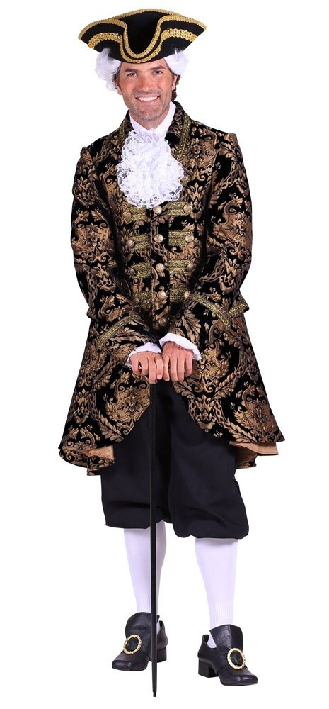 manteau long rococo homme