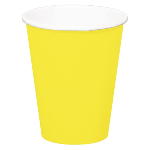 8 tasses Cleo jaune 350ml