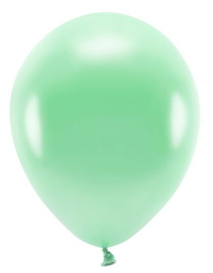 100 Eco metallic balloons mint green 26cm