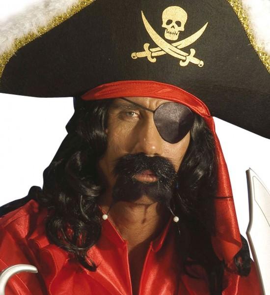 Satin-Augenklappe Pirat