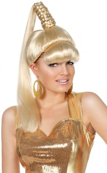 Gouden genie damespruik