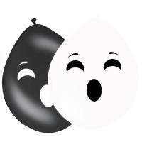 8 Ballons Ghost Face 30cm