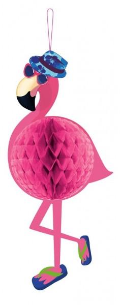 Balle en nid d'abeille flamant rose surfer