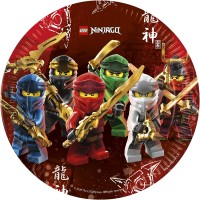 8 Lego Ninjago Pappteller 23cm