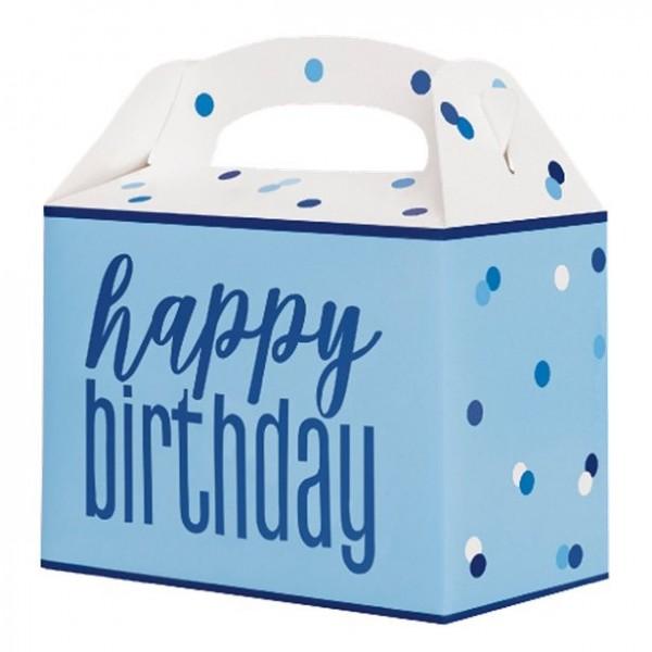 6 coffrets cadeaux d'anniversaire points bleus