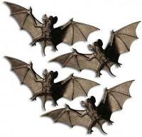 4-teiliges Fledermaus-Schwarm Deko Set