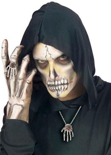 Weiße Skelett Rubin Hand