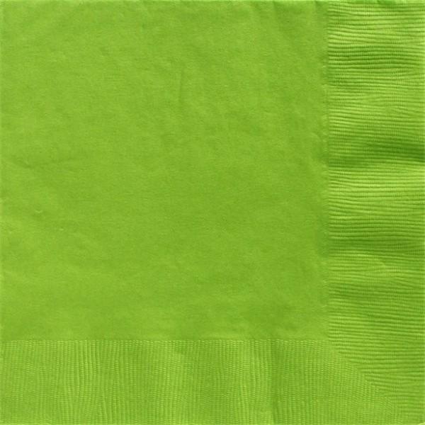 50 Lindgrüne Servietten 2-lagig 40cm