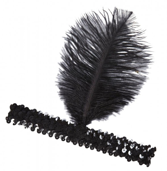 20er Jahre Flapper Pailletten Stirnband