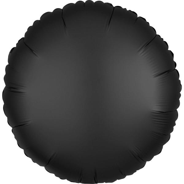 Edler Satin Folienballon schwarz 43cm