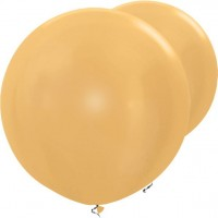 2 Goldene metallic XXL Ballons 91cm