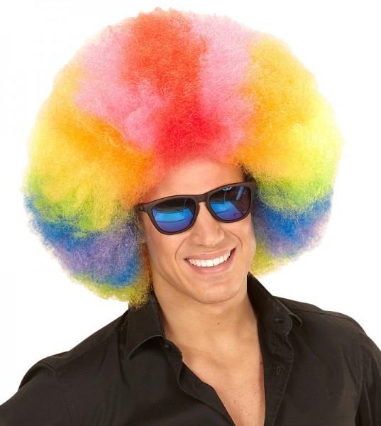 Tęczowa peruka afro