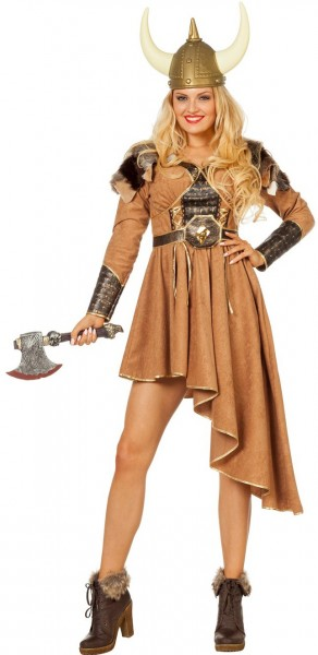 Vinka brown viking dress