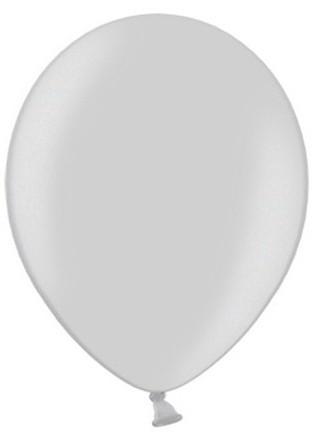 100 Partystar metallic Ballons silber 23cm