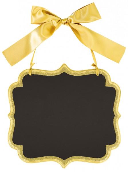 Stilvolles Tafelschild mit Goldrahmen