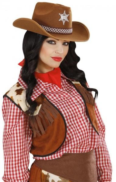 Larry Cowboy Hat With Sherrif Stern