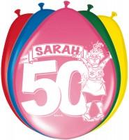 8 Glückwunsch Sarah Luftballons 30cm
