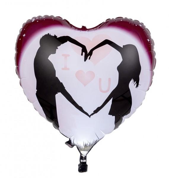 LED foil balloon couple in love 65cm