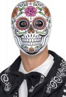 Blumige Dia De Los Muertos Maske