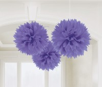 3 Romance Pompons lila