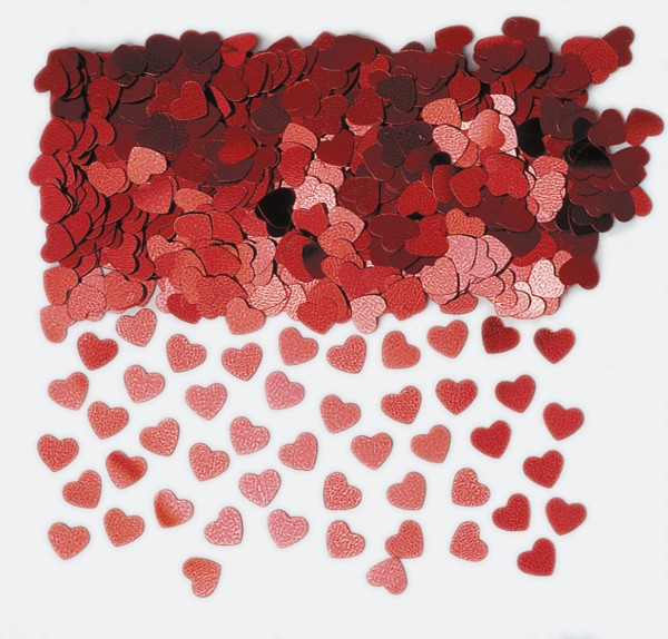 Amor suerte corazón espolvorear decoración rojo 14g