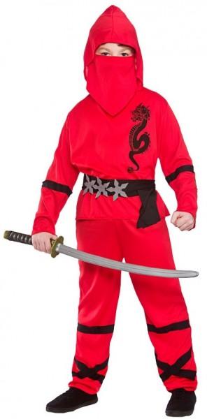 Rotes Drachenkämpfer Kinderkostüm