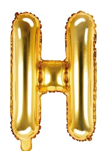 Folienballon H gold 35cm
