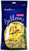10 Partystar metallic Ballons zitronengelb 30cm