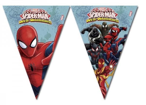 Spiderman Web Warriors Wimpelketten Girlande 230 cm 1