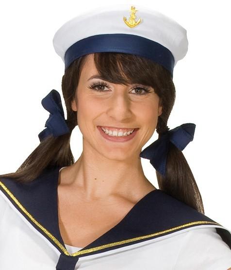 Seemannsmütze Blau-Weiß Unisex