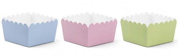 6 Snack Boxen verschiedene Farben