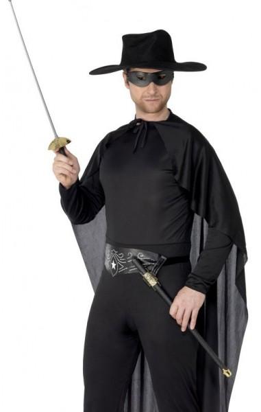 Schwarzer Rächer Kostüm Zubehör Set