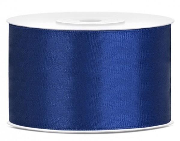 Ruban satin 25m, bleu marine, largeur 38mm