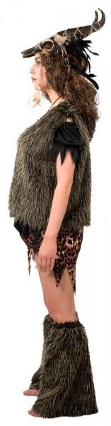 Caveman bont vest voor volwassenen