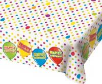 Tischdecke Balloon Happy Bday 180 x 130cm
