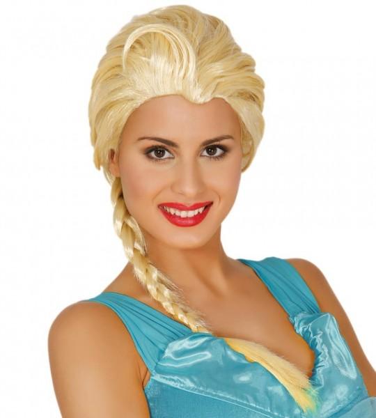 Eisprinzessin Perücke für Damen blond