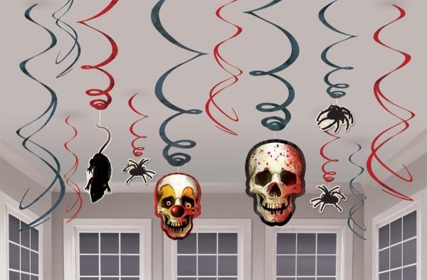 12 horror circus spiraalhangers 54cm