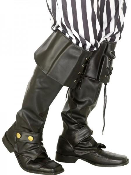 Schwarze Piraten Stiefel Deluxe