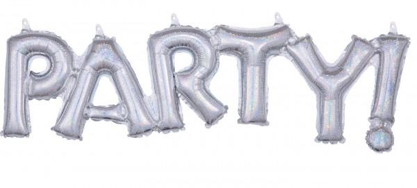 Holografischer Party Ballon 83 x 22 cm