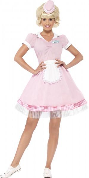 Rosa American Diner Lady Kleid